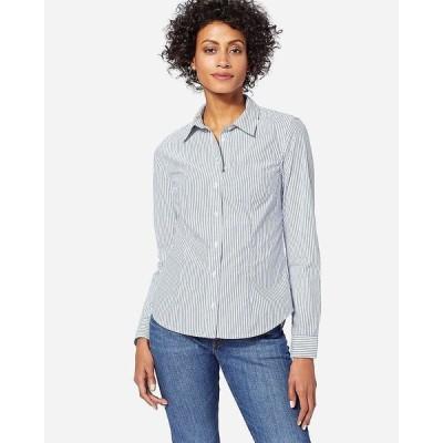 ペンドルトン Pendleton レディース ブラウス・シャツ トップス Audrey Fitted Stripe Shirt Blue Stripe