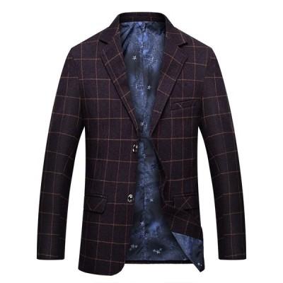 3色  メンズテーラードジャケット ブレザー カジュアルスーツ  ビジネススーツ ジャケット コート お洒落  おしゃれ  チェック柄