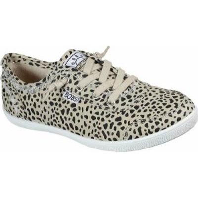 スケッチャーズ レディース スニーカー シューズ Women's Skechers BOBS B Cute Perrrsonality Vegan Slip On Sneaker Leopard