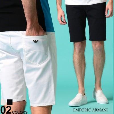 エンポリオ アルマーニ メンズ ショートパンツ コットン EMPORIO ARMANI ストレッチ ショーツ ブランド ボトムス 白 黒 コットンショーツ EA3H1PA61N4ZZ