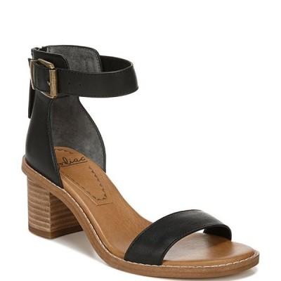 ゾディアック レディース サンダル シューズ Ilsa Leather Ankle Strap Block Heel Sandals
