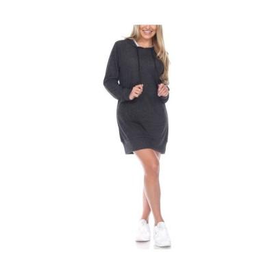 ホワイトマーク レディース ワンピース トップス Women's Hoodie Sweatshirt Dress