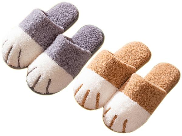 秋冬可愛貓爪造型保暖拖鞋(1雙入) 顏色/尺寸可選【D808018】
