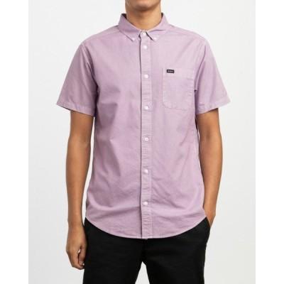 シャツ ブラウス RVCA メンズ  THAT'LL DO BUTTER ショートスリーブシャツ/ルーカ 半袖 シャツ ボタンダウン