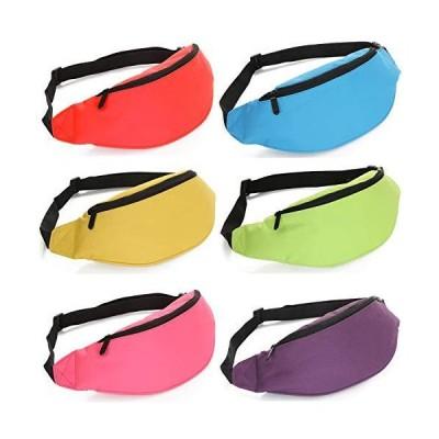 weile 6 PCS 80s Fanny Pack Set Party Fanny Pack Neon Fanny Pack Fashion Waist Belt Bag Adjustable Waist Bachelorette Party Favors【並行