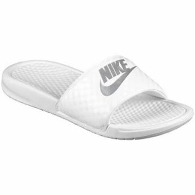 NIKE ナイキ サンダル ベナッシ ホワイト 白 Nike  Benassi JDI Slide White Metallic Silver 送料無料