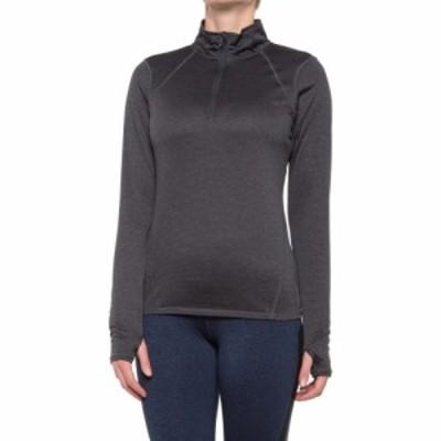 ヘッド Head レディース トップス energy marled shirt - zip neck. long sleeve Medium Grey Heather