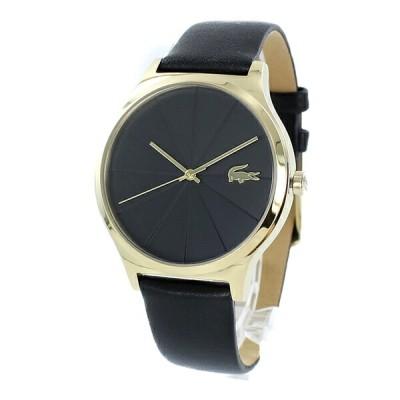 LACOSTE ラコステ レディース 腕時計 ワニロゴ ゴールド×ブラック レザー 革ベルト 2001041