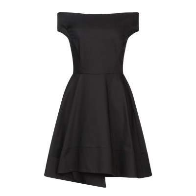 リュー ジョー LIU •JO ミニワンピース&ドレス ブラック 40 コットン 64% / ナイロン 30% / ポリウレタン 6% ミニワンピー
