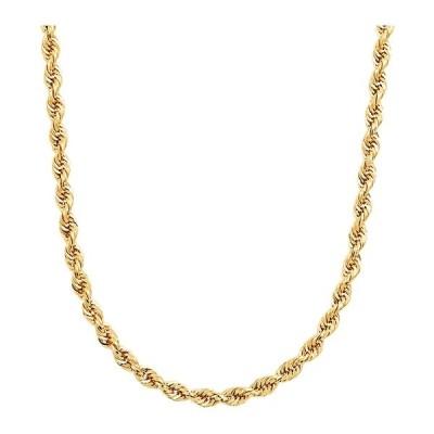 """イタリアン ゴールド ネックレス・チョーカー アクセサリー メンズ Men's Glitter Rope 24"""" Chain Necklace (4.5mm) in 14k Gold Yellow Gold"""