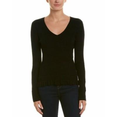 ファッション トップス Ecru Silk & Cashmere-Blend Sweater S Black