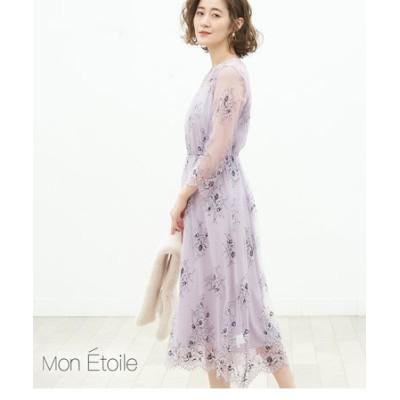 【一部店舗限定】【Mon E'toile】レースレイヤードドレス