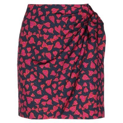 タラ ジャーモン TARA JARMON ひざ丈スカート ダークブルー 40 ポリエステル 100% ひざ丈スカート