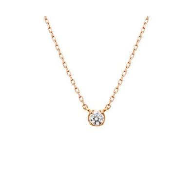 4℃(ヨンドシー) ダイヤモンドK10ピンクゴールド(PG)ネックレス 111736123114