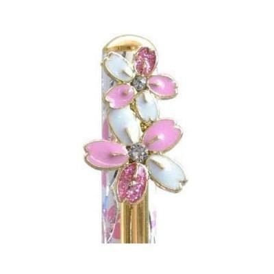 ロイヤルアーデン スワロフスキー クリスタル ボールペン サクラ ホワイト 桜 さくら 筆記具 13.5cm