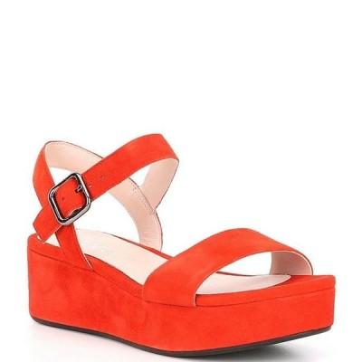 エコー レディース サンダル シューズ Plateau Suede Ankle Strap Sandals