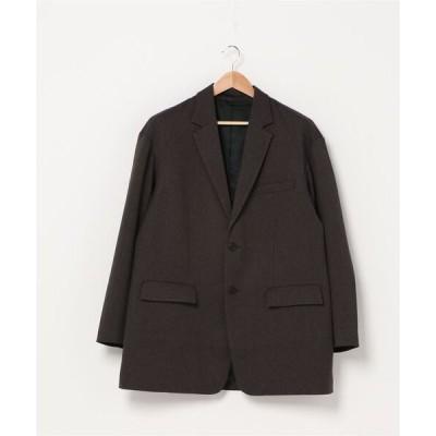 ジャケット テーラードジャケット &REVERSAL /  テックフラノオーバーサイズ