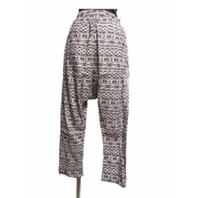 オルテガ柄エスニックサルエルパンツエスニック衣料エスニックアジアンファッション