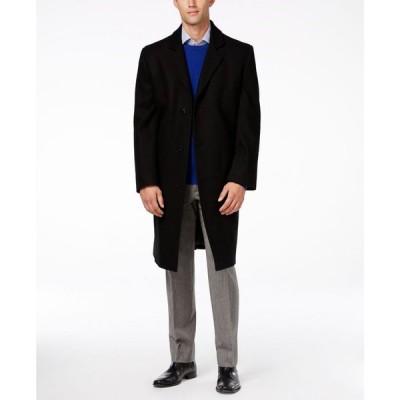 ロンドンフォグ London Fog メンズ コート アウター Signature Wool-Blend Overcoat Black