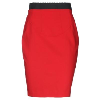 LUNATIC ひざ丈スカート レッド 40 ポリエステル 88% / ポリウレタン 12% ひざ丈スカート