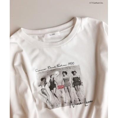 tシャツ Tシャツ 【別注】LIFEフォトプリントロンT
