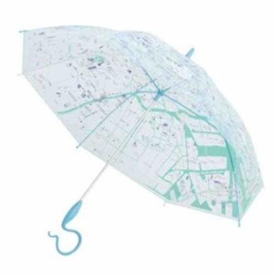 サエラ caetla EVEREON エバーイオン ビニール傘 MAP TOKYO BLUE  EV819-3