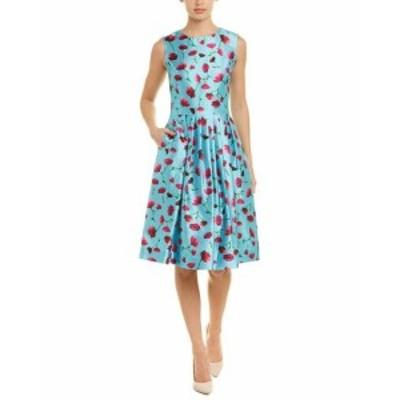 Oscar de la Renta オスカーデラレンタ ファッション ドレス Oscar De La Renta Silk-Blend A-Line Dress