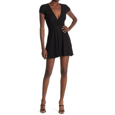 ベルベットトーチ レディース ワンピース トップス Eyelet Surplice Dress BLACK