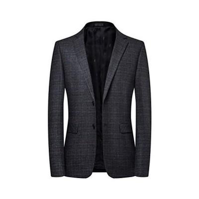 FHLHY テーラードジャケット メンズ 細身 長袖 スーツ テーラードジャケット スーツジャケット カジュアル ビジネス おしゃれ おおき