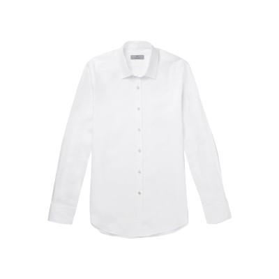 カナーリ CANALI シャツ ホワイト XL リネン 100% シャツ