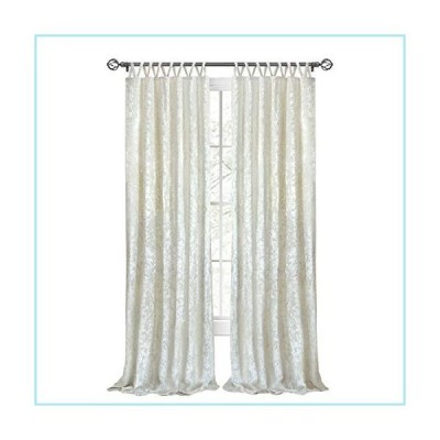 "新品Achim Home Furnishings, Creamy White Harper Criss-Cross Window Curtain Panel, 50"" x 84"""