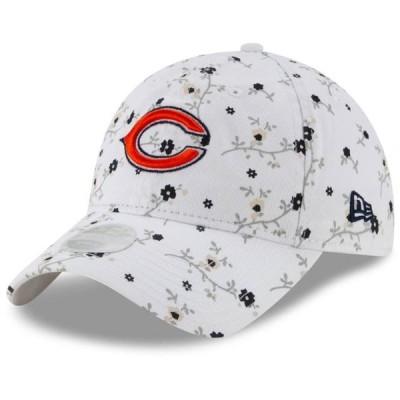 レディース スポーツリーグ フットボール Chicago Bears New Era Women's Blossom 9TWENTY Adjustable Hat - White - OSFA 帽子
