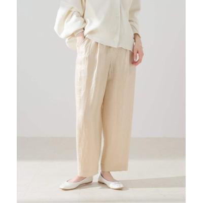 レディース フレームワーク 【INCOTEX】loose fit relax trouseres ベージュ M