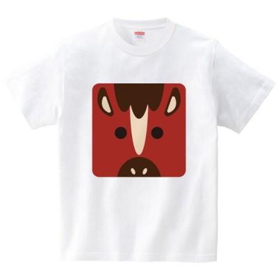 干支-午-(Tシャツ・ホワイト)