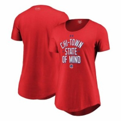 Under Armour アンダー アーマー スポーツ用品  Under Armour Chicago Cubs Womens Red Passion State of Mind Performanc