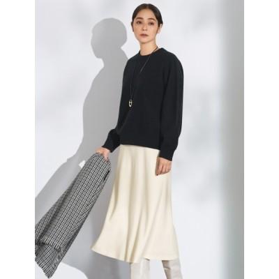 【大きいサイズ】【マガジン掲載】ファインウールフランネル フレア スカート(番号G37) 大きいサイズ スカート レディース