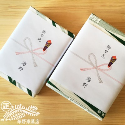 AD013_<お中元熨斗付>しゃきしゃき湯通し塩蔵わかめ・国産ひじきセット