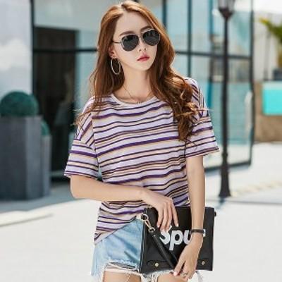 夏ストライプシャツ女性トップスシャツ2018新しい緩いシャツカジュアルプラスサイズシャツファム