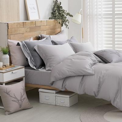 OLIVIA solid color 全灰 標準雙人床包被套四件組 300織天絲TM萊賽爾 台灣製
