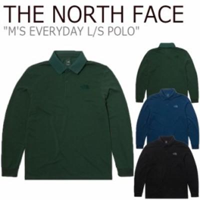 ノースフェイス ポロシャツ THE NORTH FACE M'S EVERYDAY L/S POLO エブリデー ロングスリーブ ポロ 全3色 NT7QL50A/B/C ウェア ゴルフ