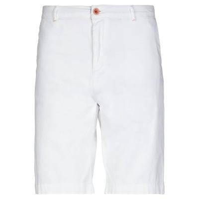 RICH & FAMOUS バミューダパンツ ホワイト 34 コットン 98% / ポリウレタン® 2% バミューダパンツ