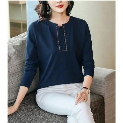 大きいサイズM-4XL ファッション 人気Tシャツ ダークブルー アカ カーキ3色展開