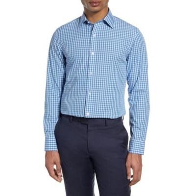 ボノボス メンズ シャツ トップス Slim Fit Gingham Dress Shirt TIMBER GINGHAM BLUE