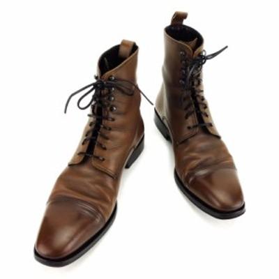 グッチ GUCCI ブーツ シューズ 靴 メンズ レースアップ 中古 T3480