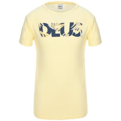 デウスエクスマキナ DEUS EX MACHINA T シャツ ライトイエロー M コットン 100% T シャツ