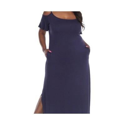 ホワイトマーク ワンピース トップス レディース Plus Size Lexi Maxi Dress Navy