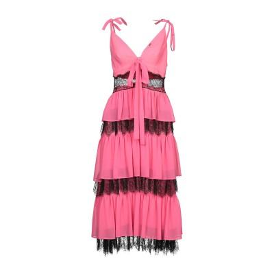 DIVEDIVINE 7分丈ワンピース・ドレス フューシャ 42 ポリエステル 100% 7分丈ワンピース・ドレス