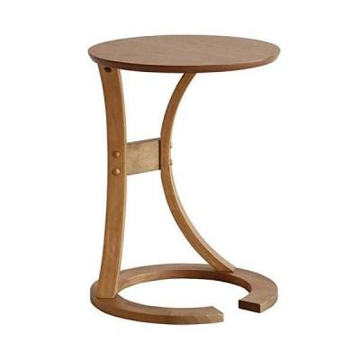 市場 サイドテーブル Lotus 幅40x奥行40x高さ56cm ヴィンテージナチュラル 手元まで寄せることができるデザイン 組立品 ILT-2987