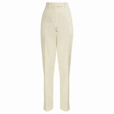 カルバンクライン その他ボトムス・パンツ Side-striped wool trousers Ivory