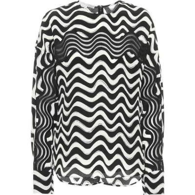 ステラ マッカートニー Stella McCartney レディース ブラウス・シャツ トップス printed silk blouse Black Ivory